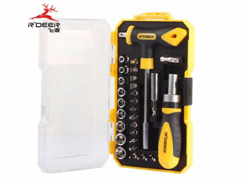 Screwdriver and Socket Set with Compact Carry Case